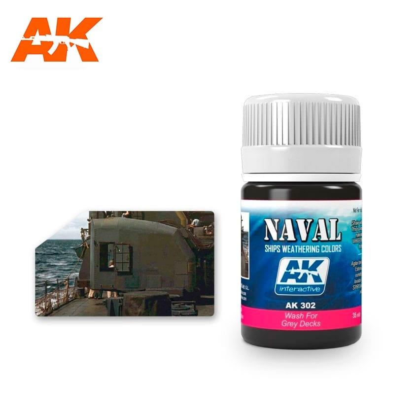 AK-Interactive Wash For Grey Decks - 35ml - AK-Interactive - AK-302