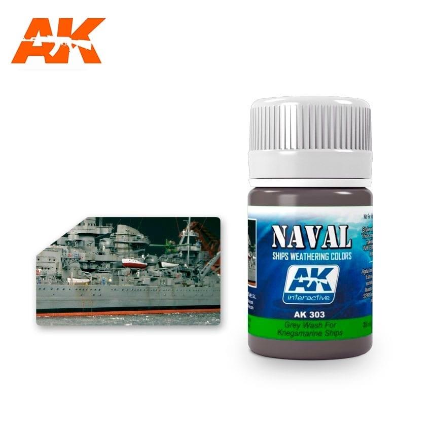 AK-Interactive Grey Wash For Kriegsmarine Ships  - 35ml - AK-Interactive - AK-303