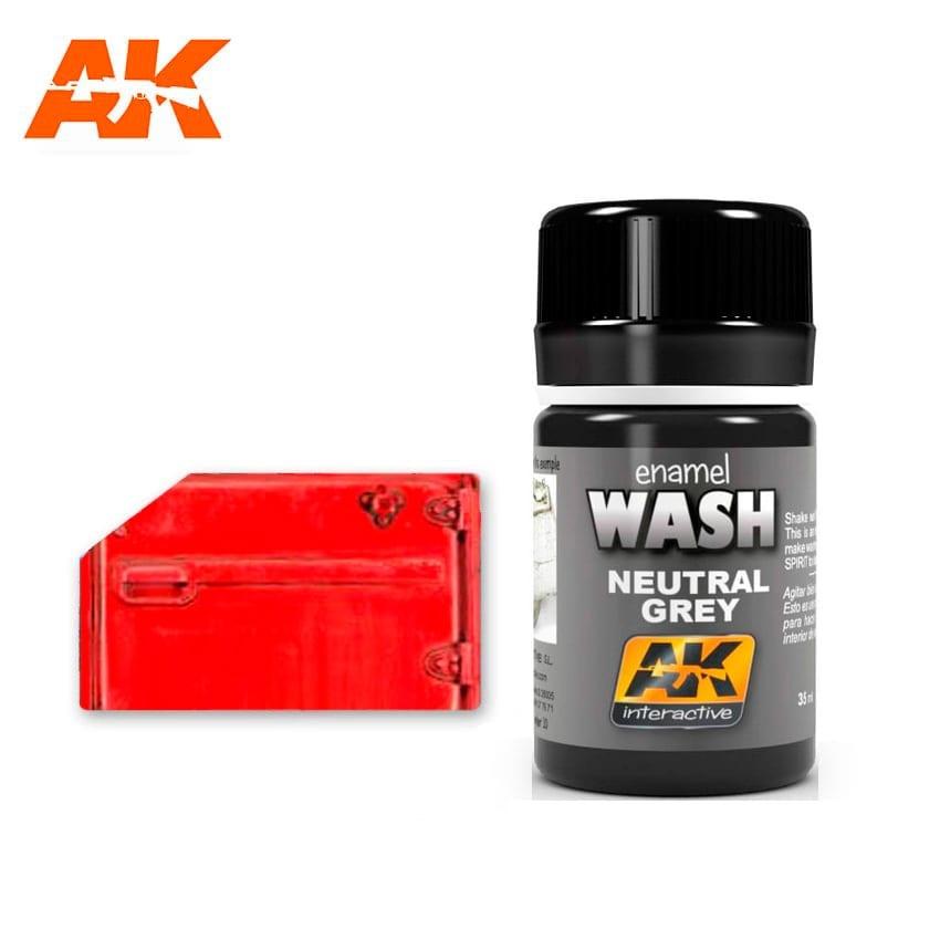 AK-Interactive Neutral Grey For White/Black Wash - 35ml - AK-Interactive - AK-677