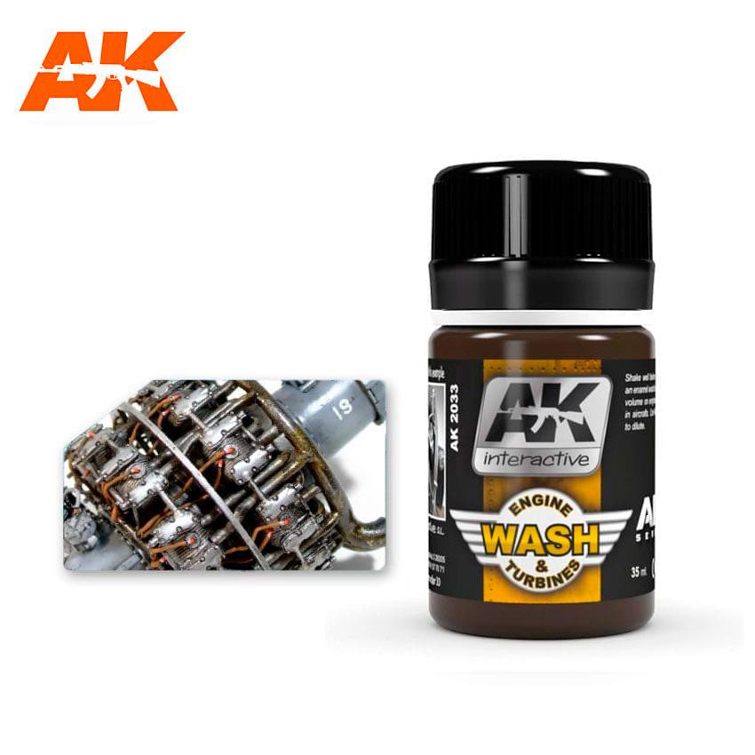 AK-Interactive Wash For Aircraft Engine - 35ml - AK-Interactive - AK-2033