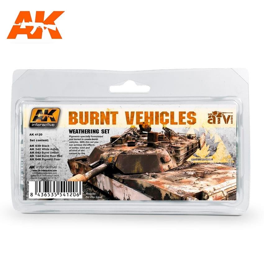 AK-Interactive Burnt Vehicles - set - AK-Interactive - AK-4120