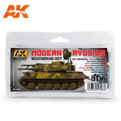 Modern Russian Weathering - set - AK-Interactive - AK-4160