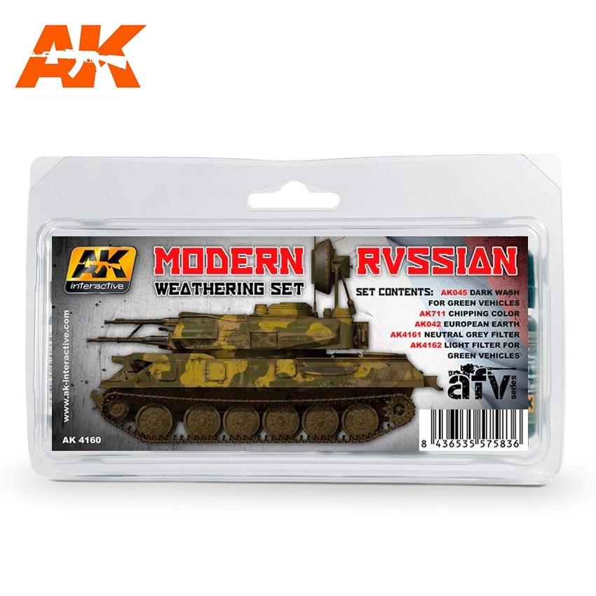 AK-Interactive Modern Russian Weathering - set - AK-Interactive - AK-4160