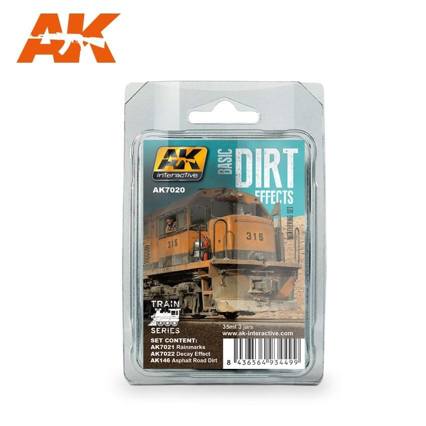 AK-Interactive Basic Dirt Effects Weathering Set Train Series - AK-Interactive - AK7020