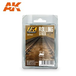 Rolling Stock Weathering Set Train Series - AK-Interactive - AK7023