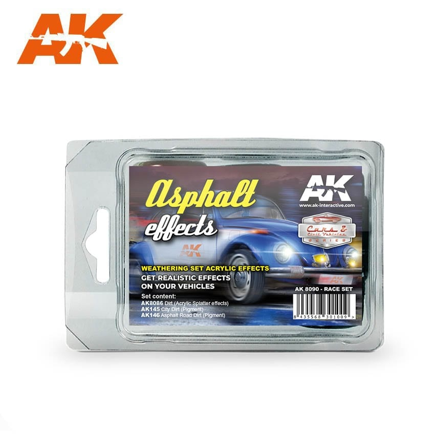 AK-Interactive Asphalt Effects - set - AK-Interactive - AK8090