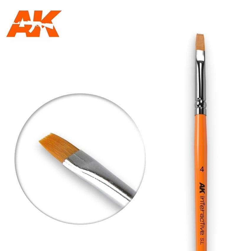 AK-Interactive Flat Brush 4 Synthetic - AK-Interactive - AK-610