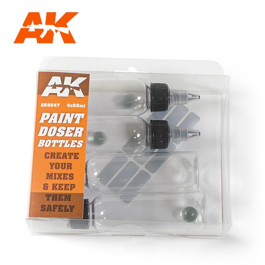AK-Interactive Paint Doser Bottles 4X60 Ml - AK-Interactive - AK-9047