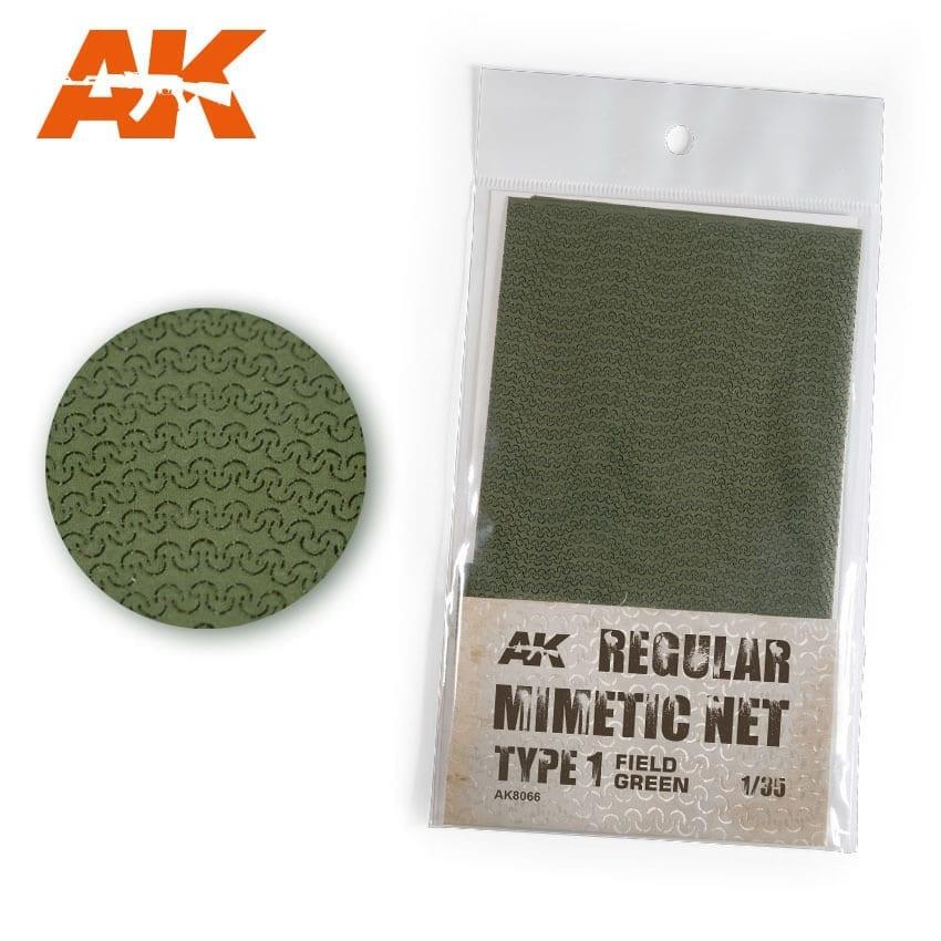 AK-Interactive Regular Camouflage Net Type 1 Field Green - AK-Interactive - AK-8066
