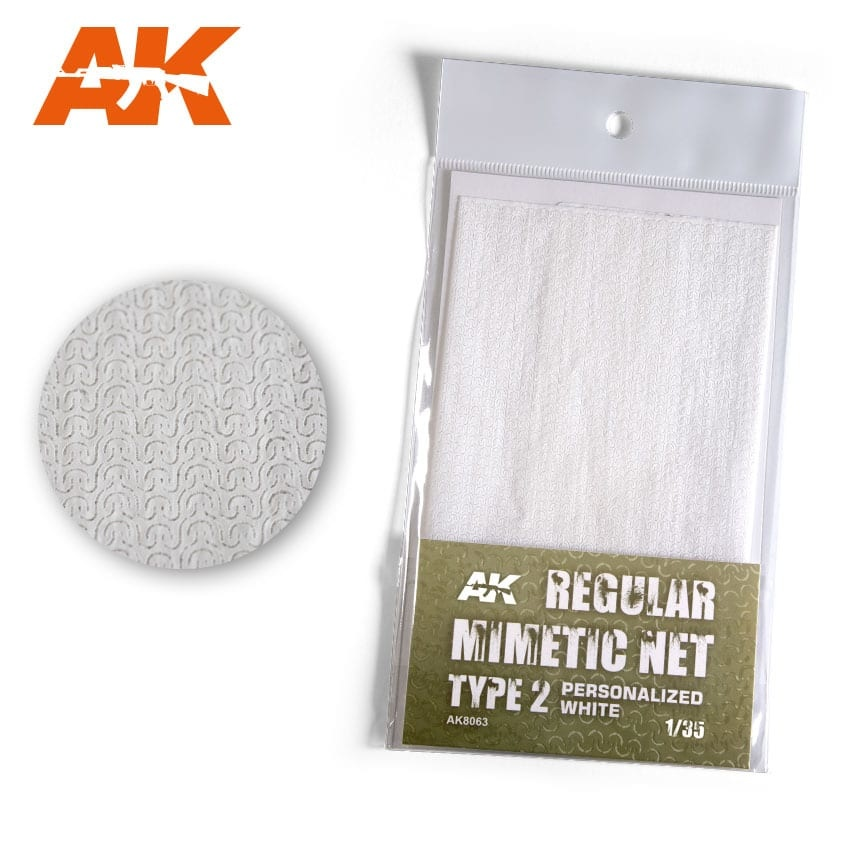 AK-Interactive Regular Camouflage Net Type 2 Personalized White - AK-Interactive - AK-8063