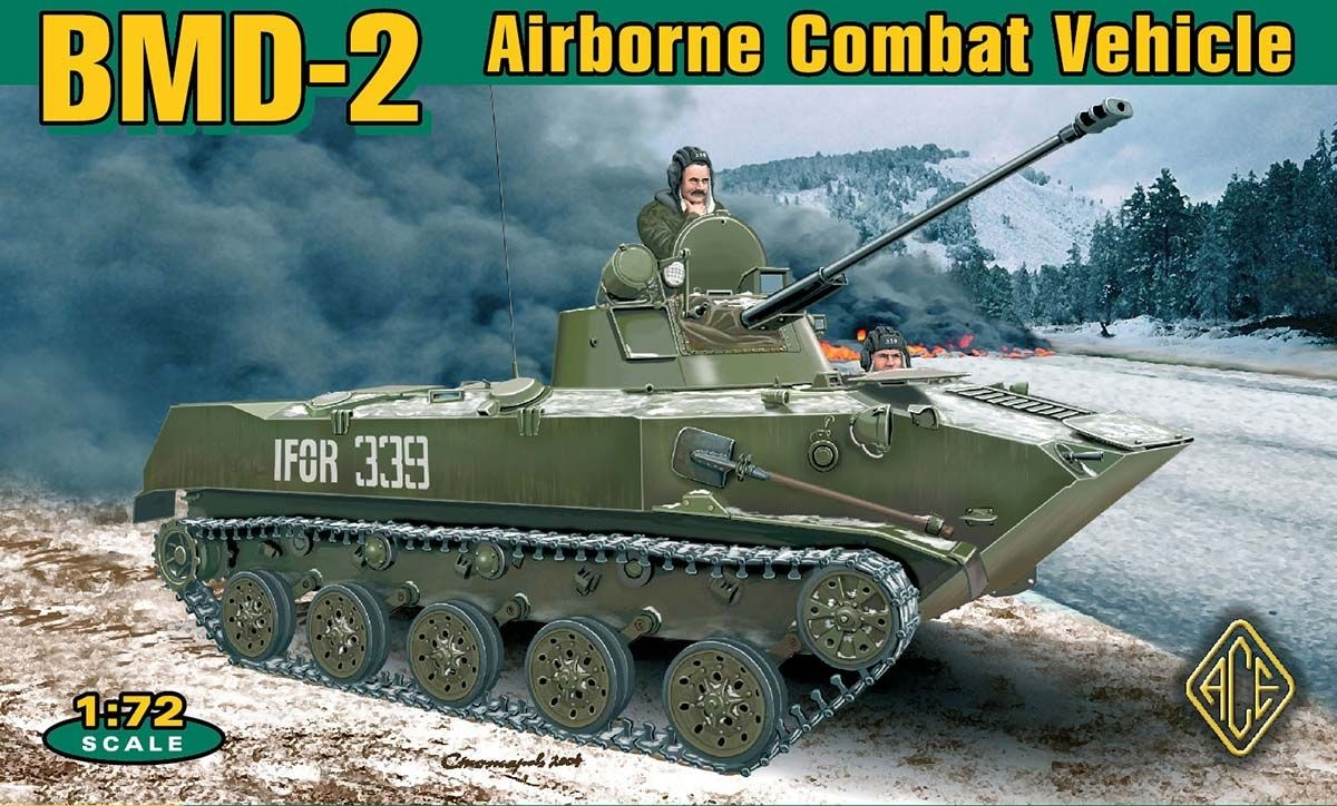 Ace Bmd-2 Soviet Airborne Combat Vehicle, Airborne Combat Vehicle - Scale 1/72 - Ace - ACE72115