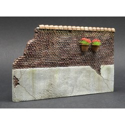 Broken wall section Palermo - Scale 1/35 - Dio Dump - DD007