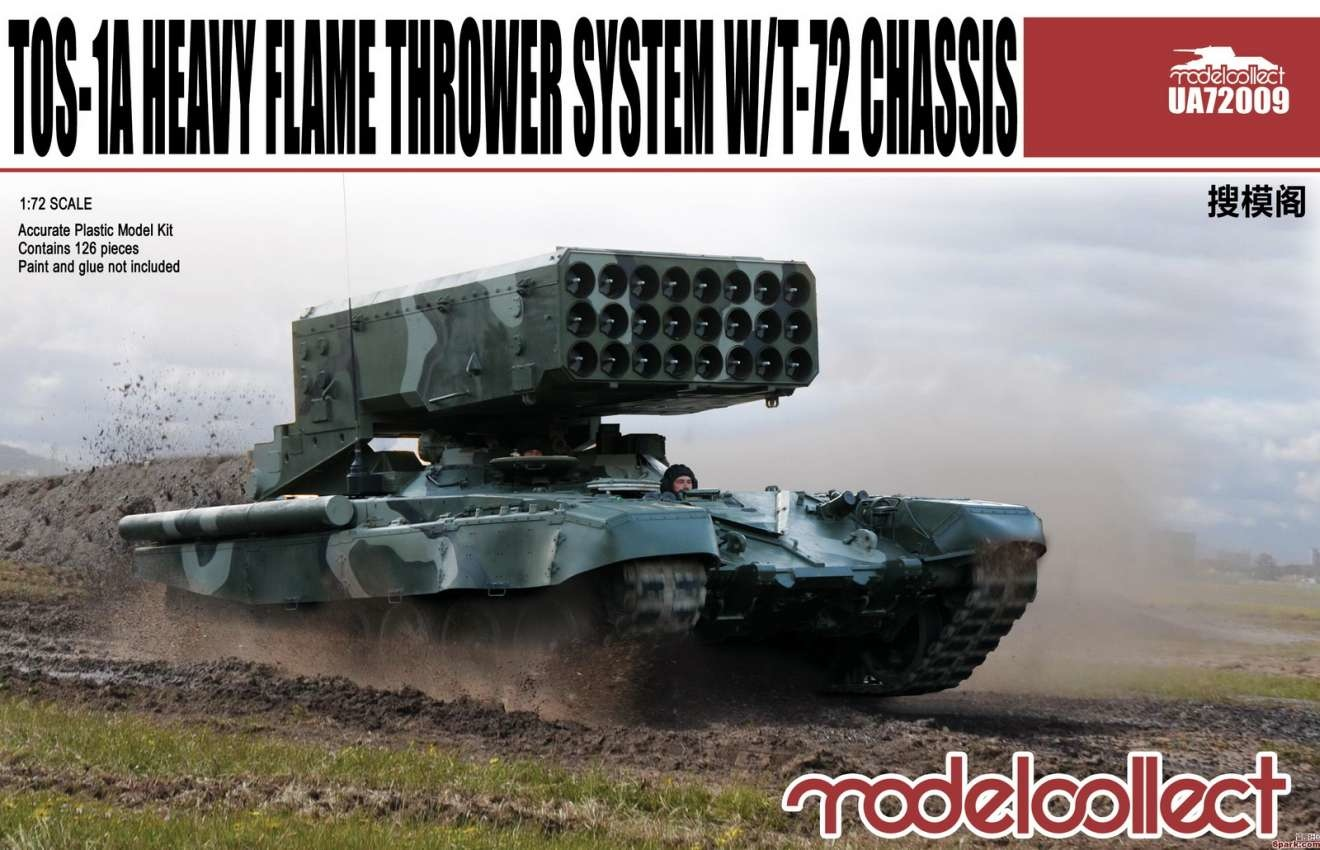 Model Collect Tos-1A Heavy Flame Thrower System W/T-72 Chassis  - Scale 1/72 - Model Collect - MOT-UA72009