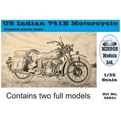 Us Indian 741B Motorcycle (Box Of 2) - Scale 1/35 - Mirror Models - MIMS 35831