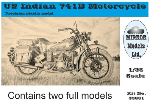 Mirror Models Us Indian 741B Motorcycle (Box Of 2) - Scale 1/35 - Mirror Models - MIMS 35831