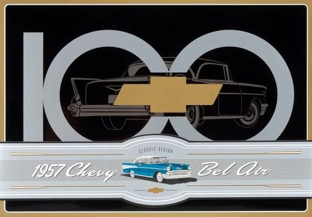 AMT 57 Chevy Bel Air Tin - Scale 1/24 - AMT -AMT-0741