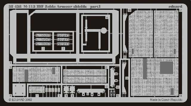 Eduard M-113 Idf Zelda Armour Shields- Scale 1/35 - Eduard - EDD 35438