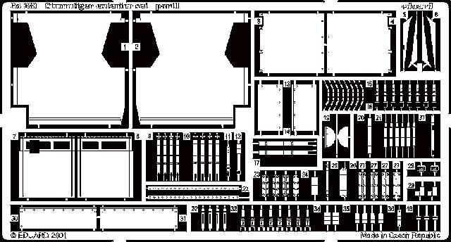 Eduard Sturmtiger Exterior- Scale 1/35 - Eduard - EDD 35381