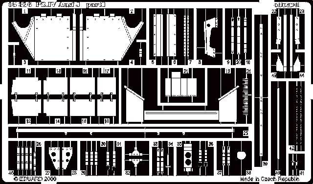 Eduard Pz.Iv Ausf.J- Scale 1/35 - Eduard - EDD 35326