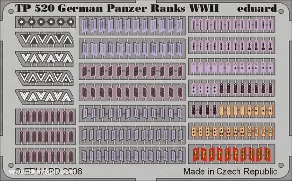Eduard German Panzer Ranks WWII- Scale 1/35 - Eduard - EDD 520