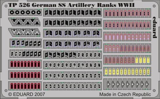 Eduard German SS Artilery Ranks WWII- Scale 1/35 - Eduard - EDD 526