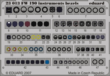 Eduard Fw 190 Instruments Bezels- Scale 1/24 - Eduard - EDD 23013