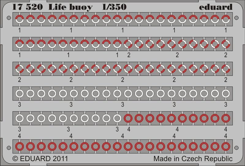Eduard Life Buoy - Scale 1/350 - Eduard - EDD 17520