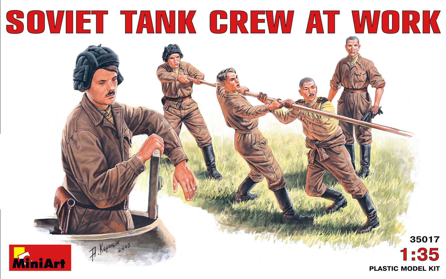 MiniArt Soviet Tank Crew At Work - Scale 1/35 - Mini Art - MIT35017