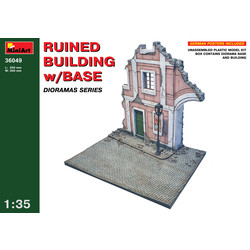 Ruined Building With Base - Scale 1/35 - Mini Art - MIT36049