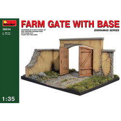 Farm Gate With Base - Scale 1/35 - Mini Art - MIT36034