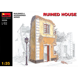 Ruined House - Scale 1/35 - Mini Art - MIT35526