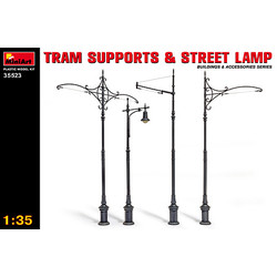 Tram Supports And Street Lamps - Scale 1/35 - Mini Art - MIT35523