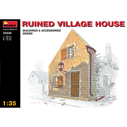 Ruined Village House - Scale 1/35 - Mini Art - MIT35520