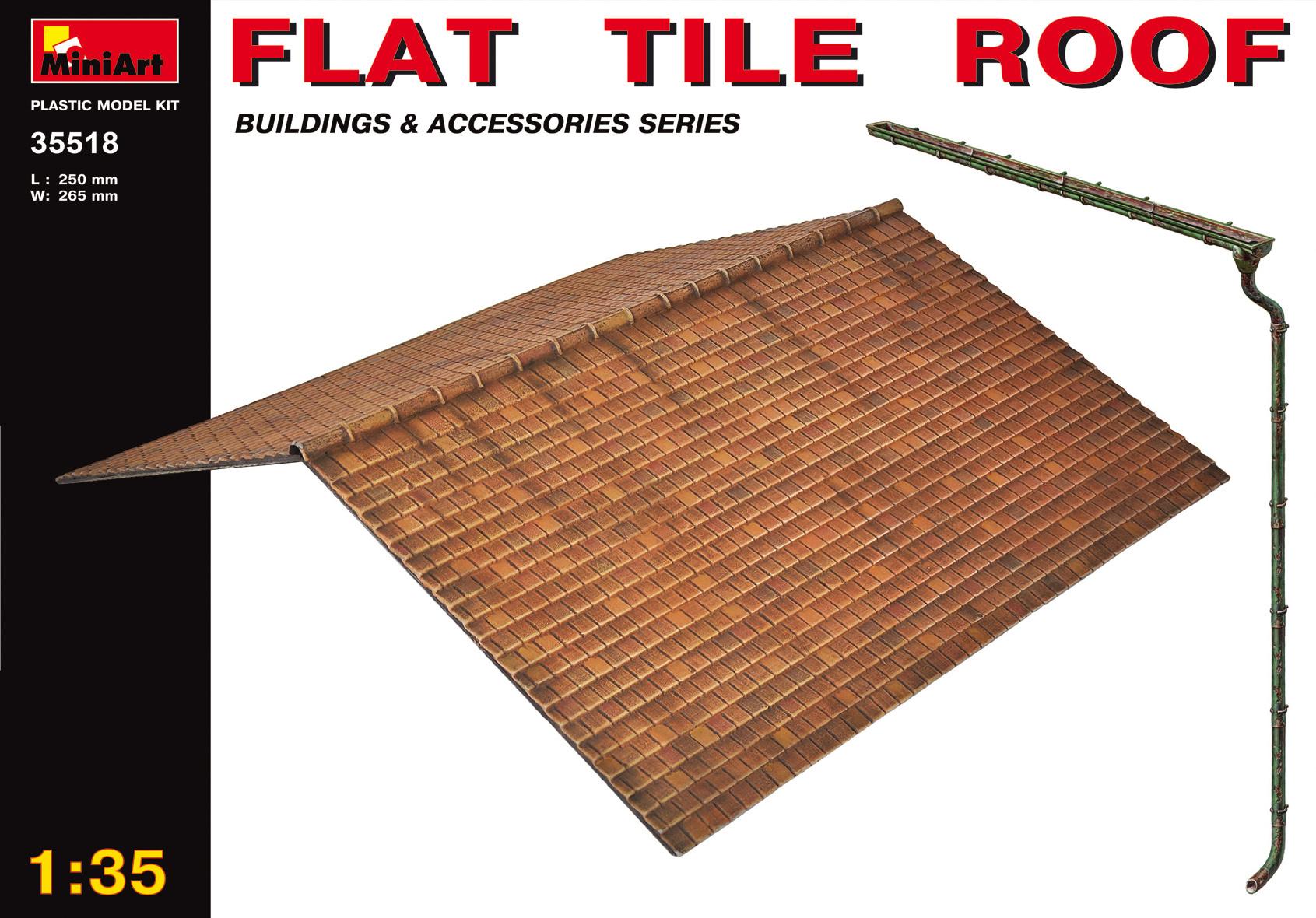 MiniArt Flat Tile Roof - Scale 1/35 - Mini Art - MIT35518