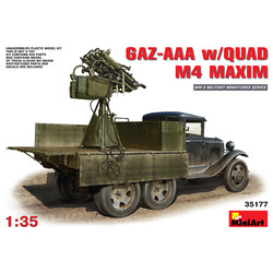 Gaz-Aaa With Quad M-4 Maxim - Scale 1/35 - Mini Art - MIT35177