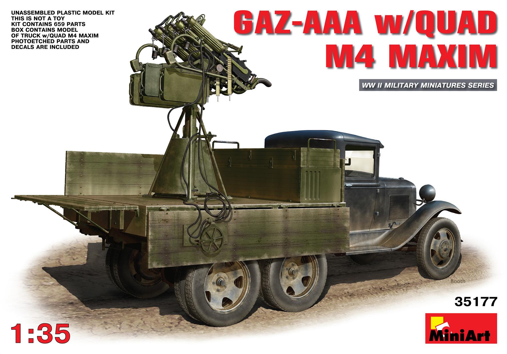 MiniArt Gaz-Aaa With Quad M-4 Maxim - Scale 1/35 - Mini Art - MIT35177