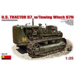 U.S.Tractor D7 With Towing Winch D7N - Scale 1/35 - Mini Art - MIT35174