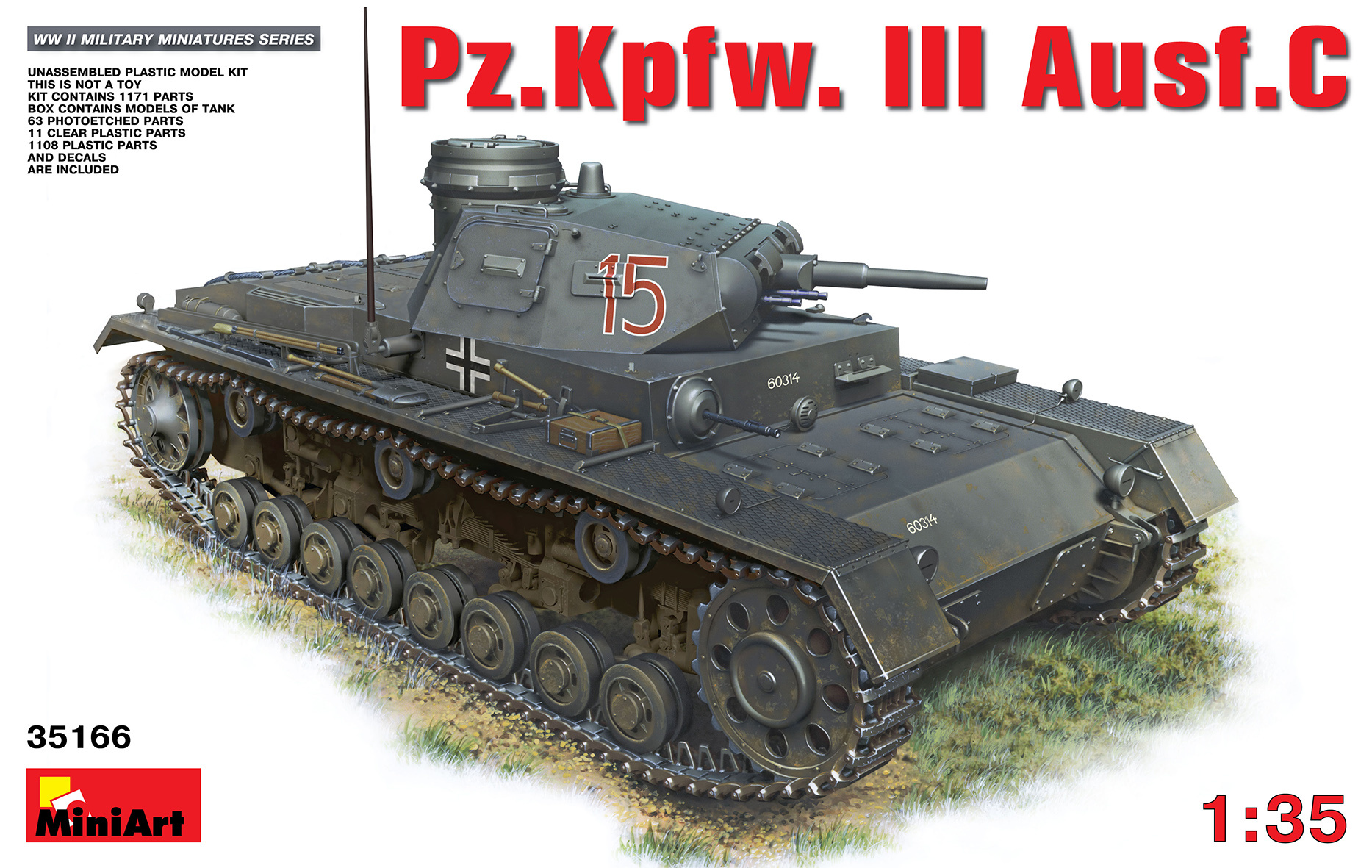 MiniArt Pz.Kpfw.3 Ausf.C - Scale 1/35 - Mini Art - MIT35166
