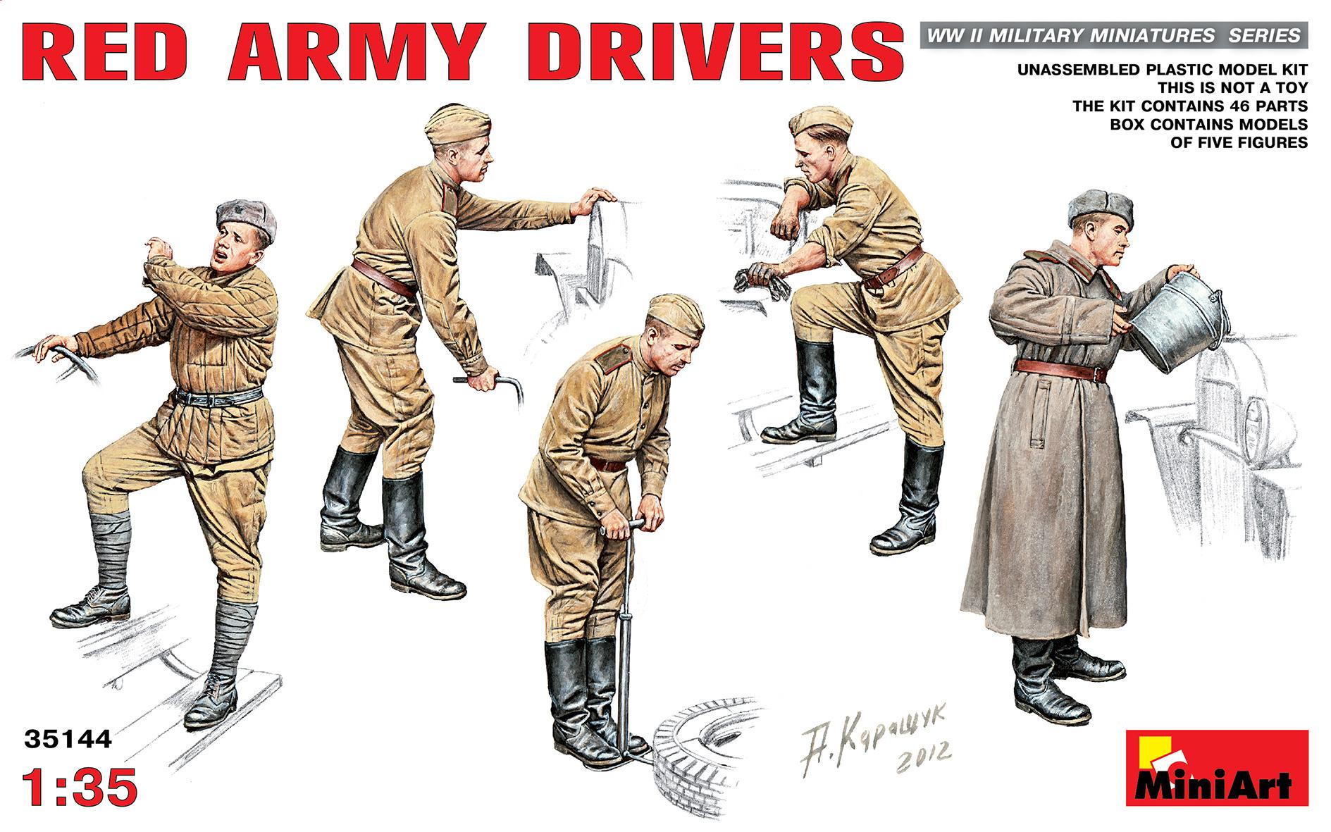 MiniArt Red Army Drivers - Scale 1/35 - Mini Art - MIT35144
