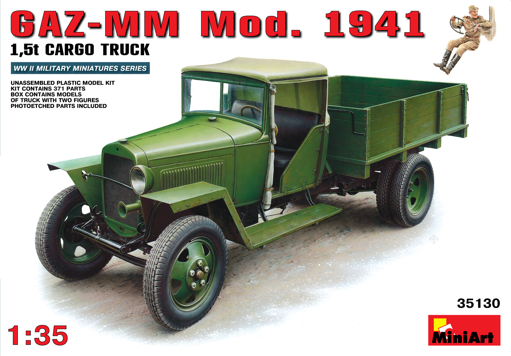 MiniArt Gaz-Mm. Model 1941 Cargo Truck - Scale 1/35 - Mini Art - MIT35130