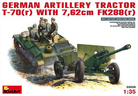 MiniArt German Artillery Tractor T-70 (R - Scale 1/35 - Mini Art - MIT35039