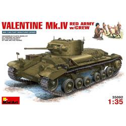 Valentine Mk.4 Red Army With Crew - Scale 1/35 - Mini Art - MIT35092