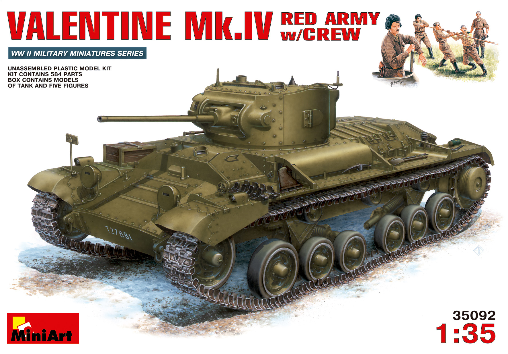 MiniArt Valentine Mk.4 Red Army With Crew - Scale 1/35 - Mini Art - MIT35092
