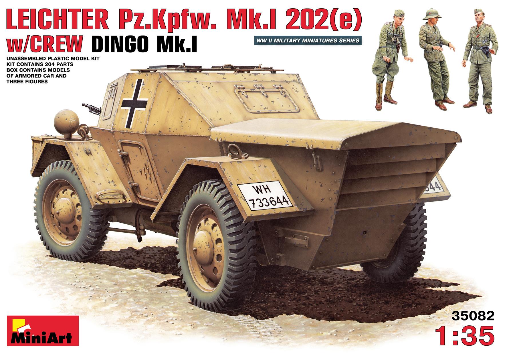 MiniArt Leichter Pz. Kpfw. Mk 1202 (E). With Crew - Scale 1/35 - Mini Art - MIT35082