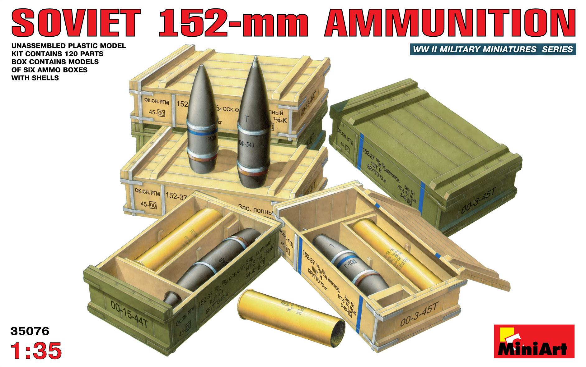 MiniArt Soviet 152mm Ammunition - Scale 1/35 - Mini Art - MIT35076