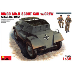 Dingo Mk II ( Pz.Kpfw.Mk 1 202E) With Crew - Scale 1/35 - Mini Art - MIT35074