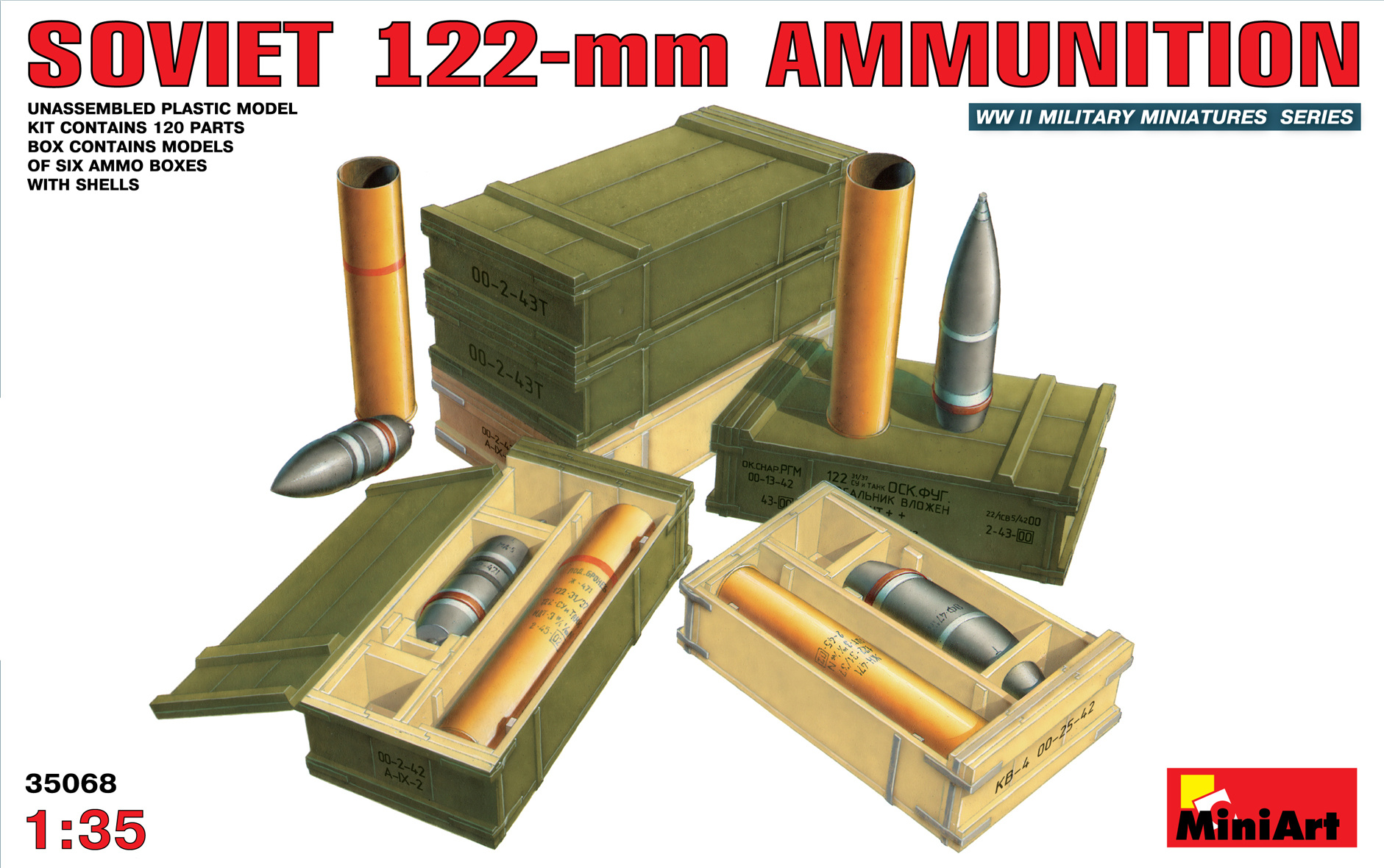 MiniArt Soviet 122mm Ammunition - Scale 1/35 - Mini Art - MIT35068