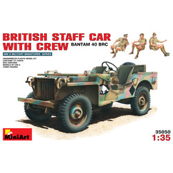 British Staff Car With Crew - Scale 1/35 - Mini Art - MIT35050