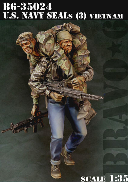 Bravo 6 Us Navy Seals (3) - Scale 1/35 - Bravo 6 - B6-35024