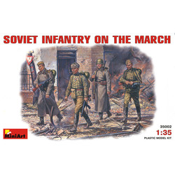 Soviet Infantry On March - Scale 1/35 - Mini Art - MIT35002